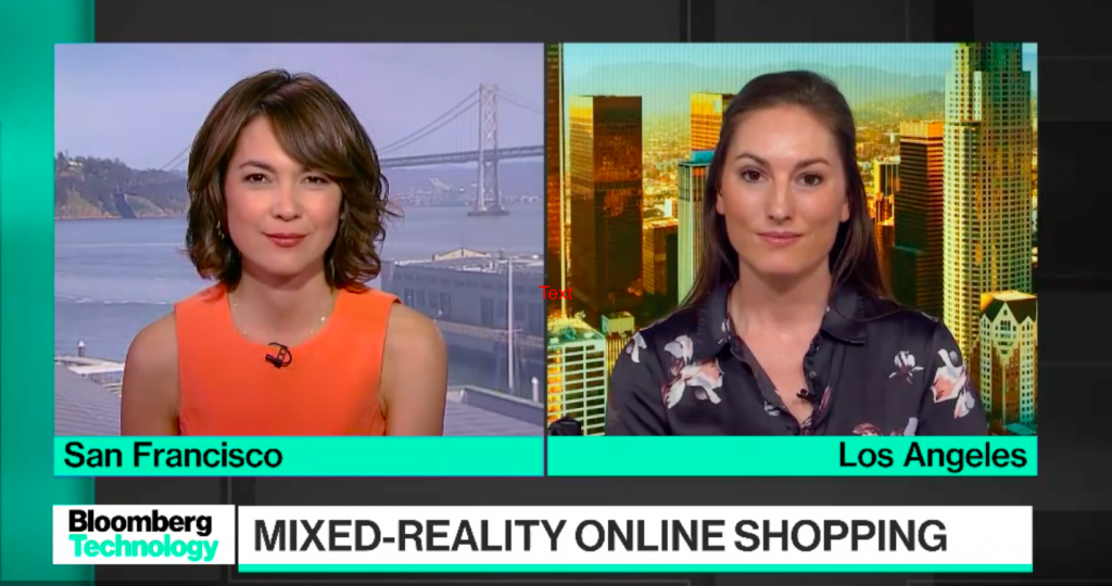 VNTANA CEO on Bloomberg speaking about mixed reality and online shopping
