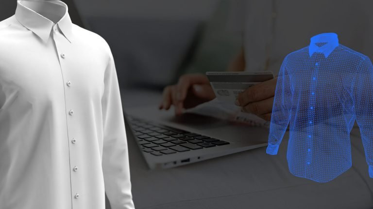 3D shirt model made in software like Browzwear, CLO, or Optitext optimized for ecommerce