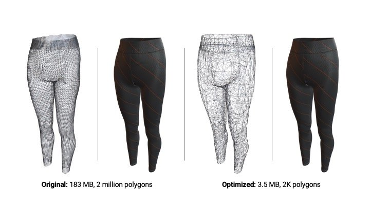 3D Models of Pants designed in programs like CLO and Browzwear