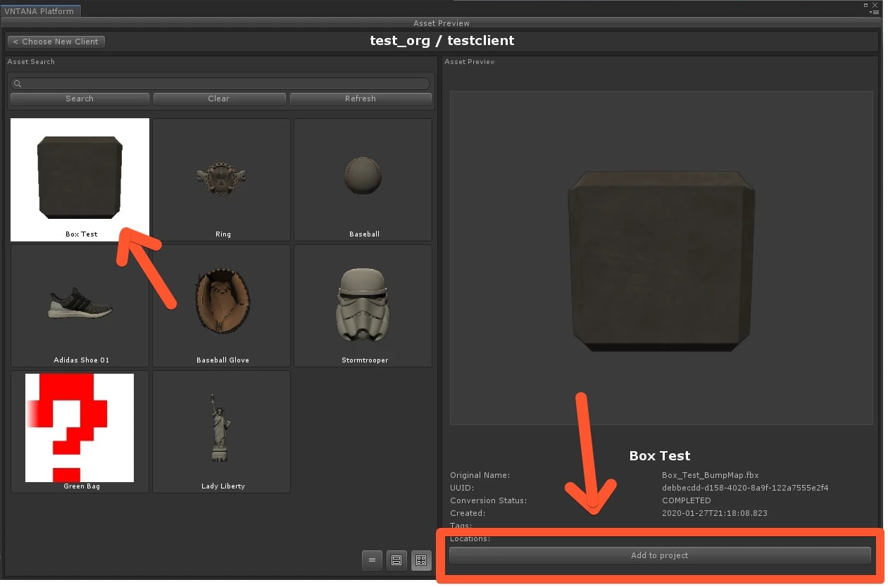 Unity Plugin Asset Preview