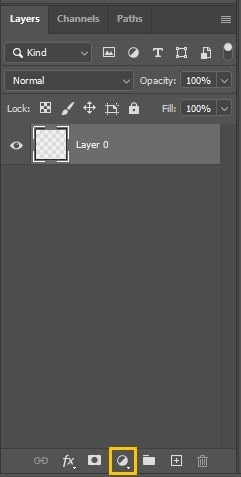 Photoshop Layers - Create New Fill