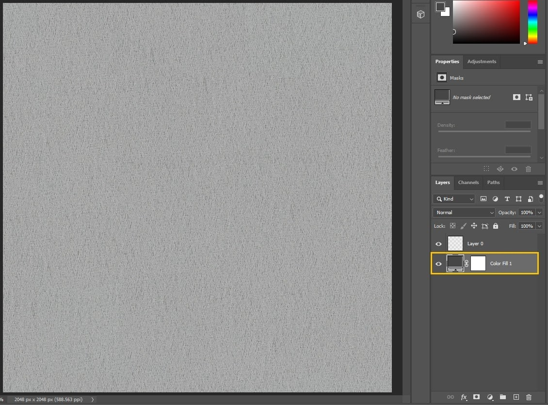 Photoshop - Move Color Fill Layer