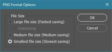 Photoshop - Select Smallest File Size