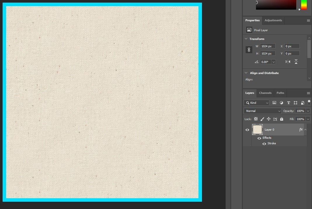 Photoshop - Truly Opaque Texture