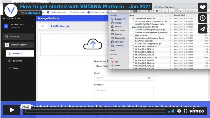How to get started with VNTANA Platform