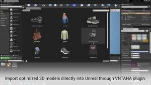 Unreal VNTANA 3D Plugin Screenshot