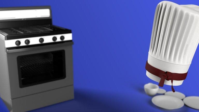 Texture Baking 3D Illustration